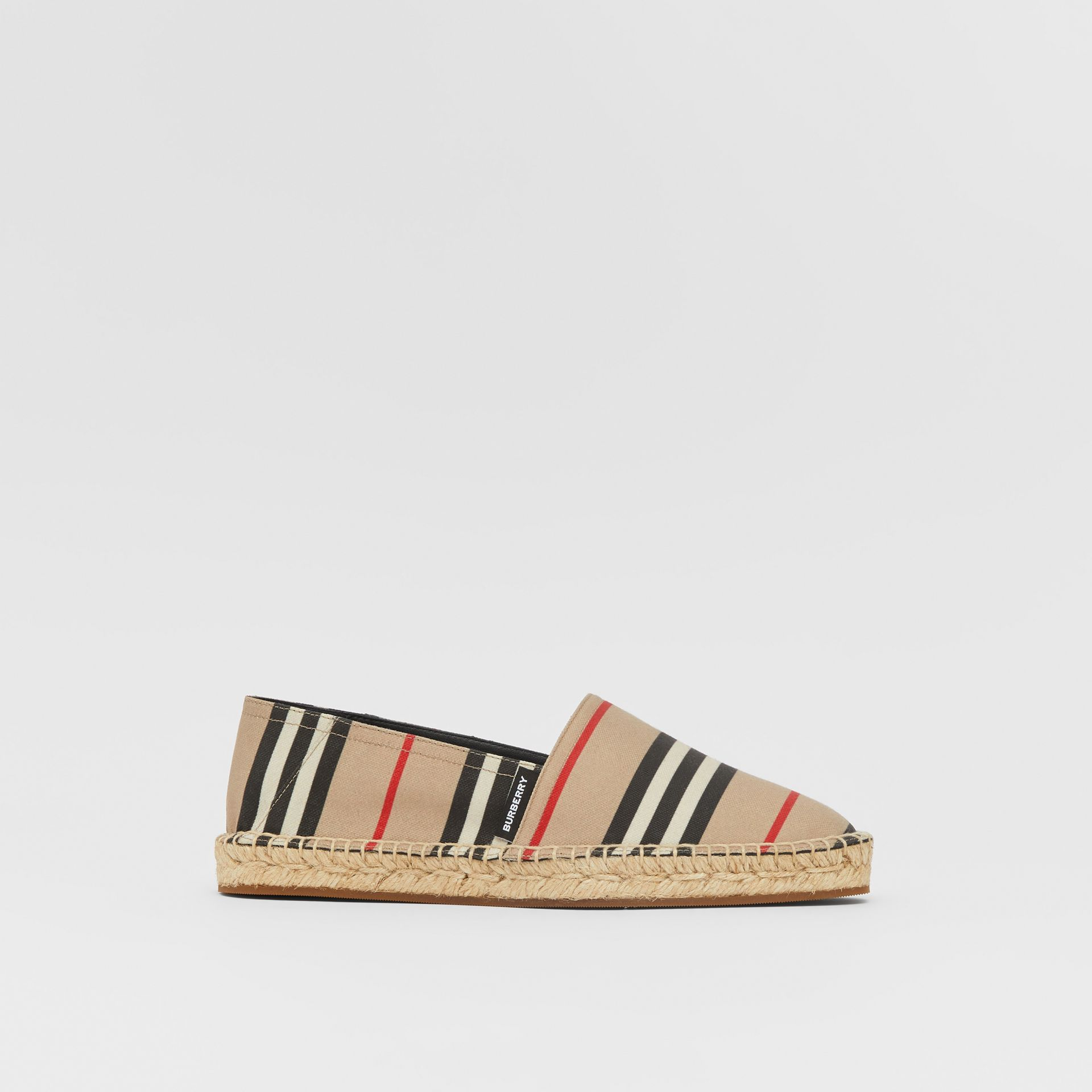 Icon Stripe Espadrilles in Archive Beige - Women | Burberry United Kingdom - gallery image 4