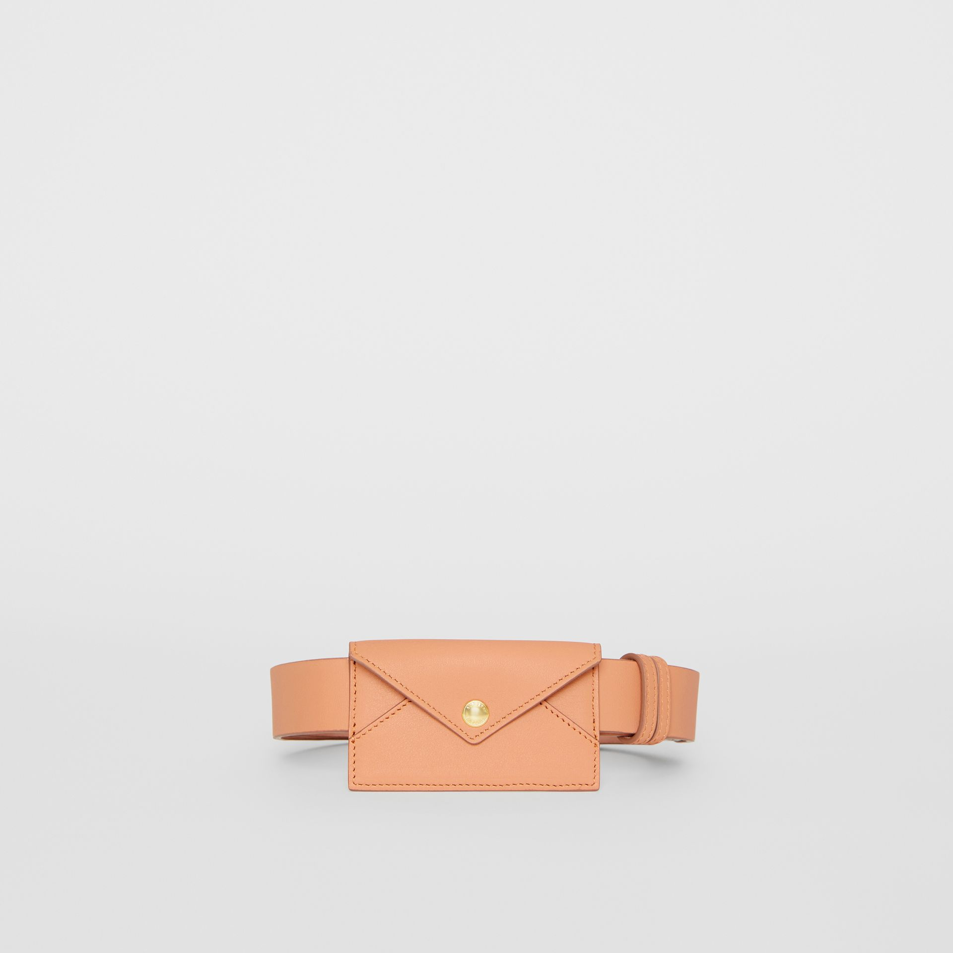 Envelope Detail Leather Belt in Pale Brick - Women | Burberry United States - gallery image 3
