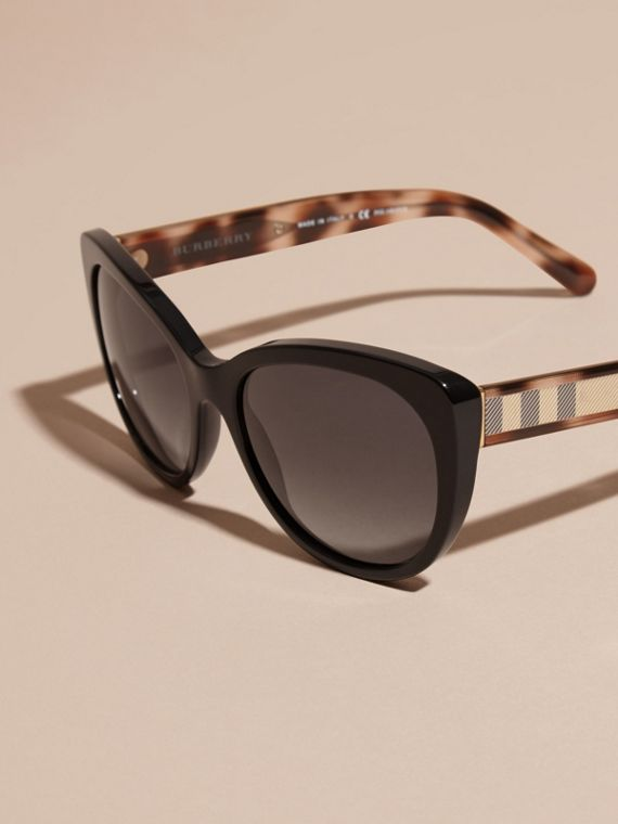 Check Detail Cat-eye Polarised Sunglasses - cell image 2