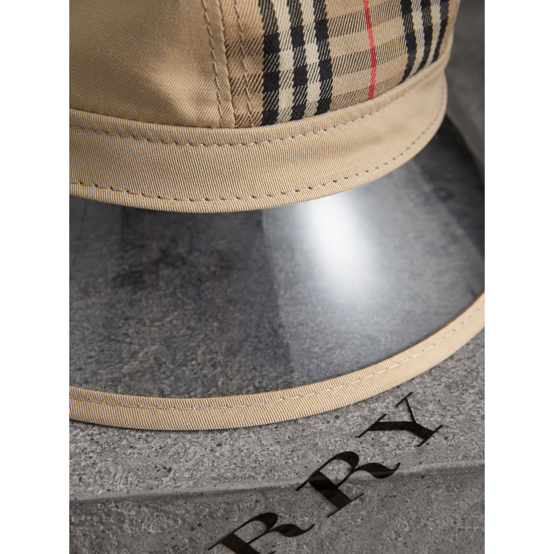 1983 Check Bucket Hat in Dark Sand | Burberry - gallery image 1
