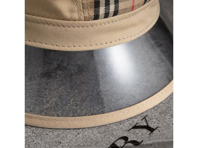 1983 Check Bucket Hat in Dark Sand - Women | Burberry - cell image 1