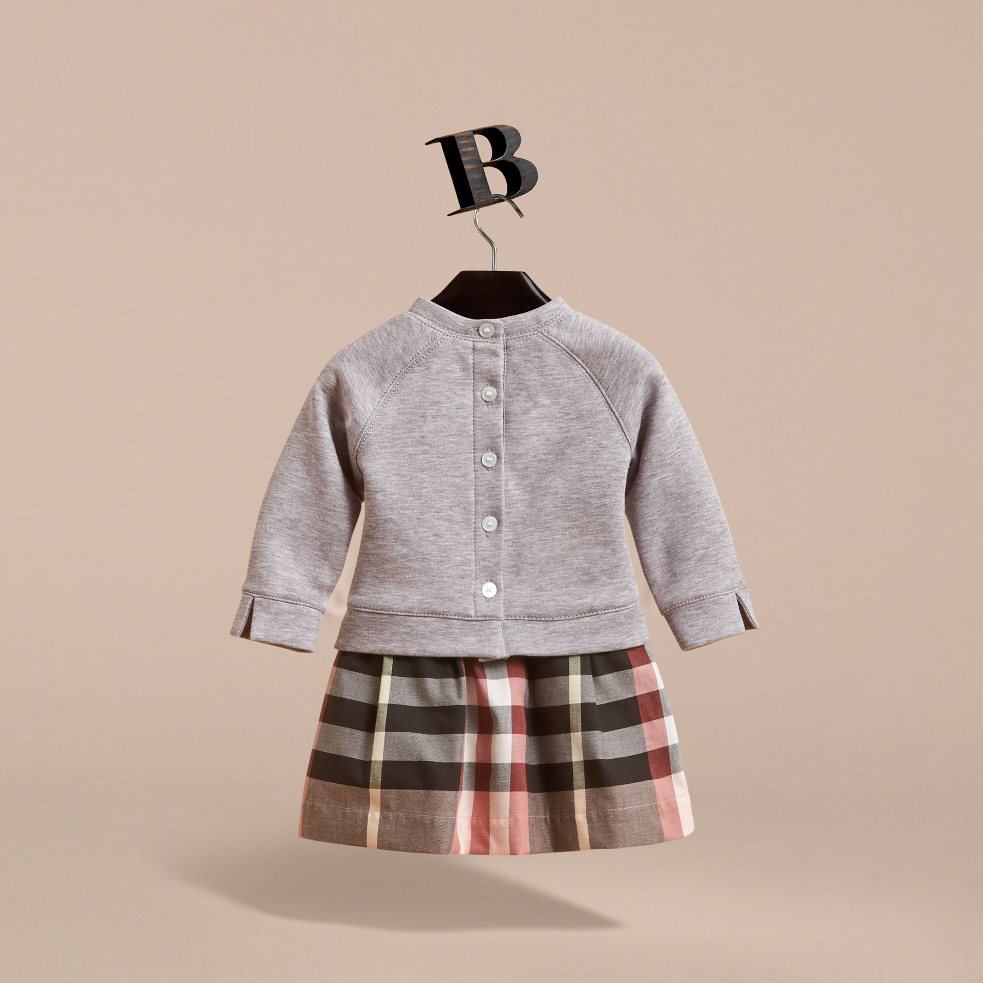 Contrast Check Sweater Dress | Burberry - gallery image 4