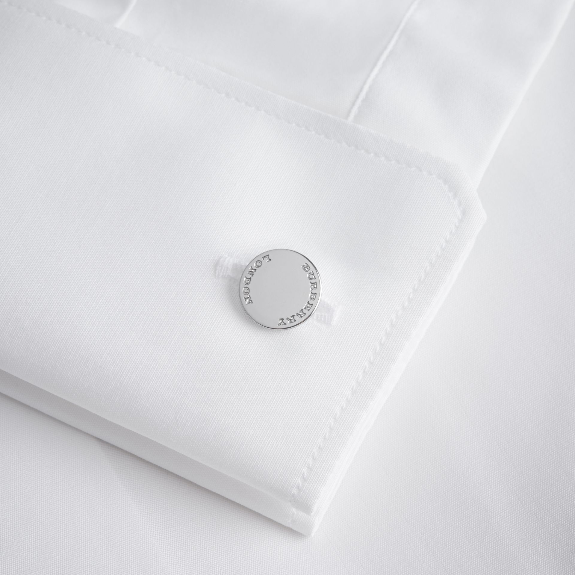 Modern Fit Double-cuff Cotton Poplin Shirt - gallery image 2