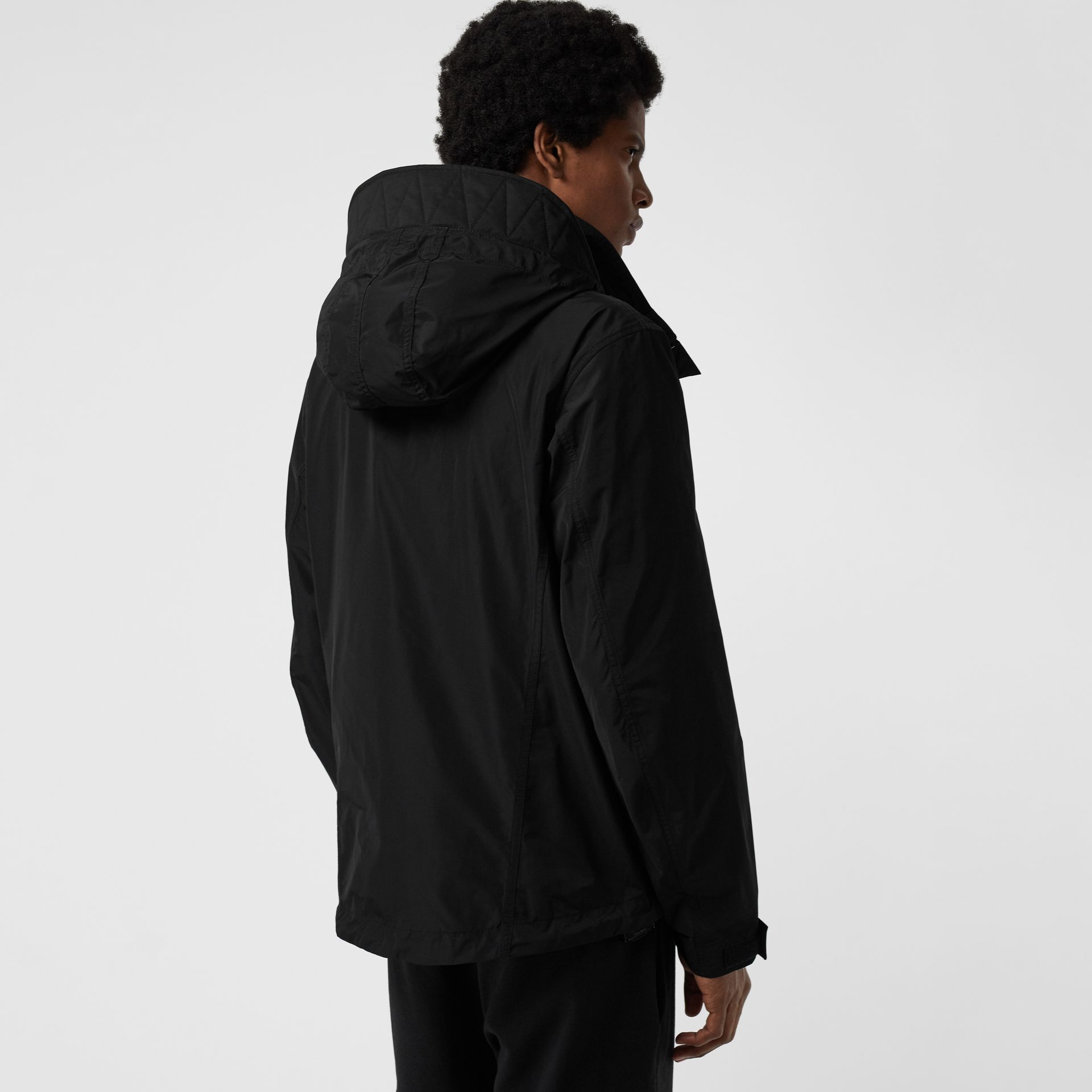 Packaway Hood Shape-memory Taffeta Jacket in Black - Men | Burberry Australia - gallery image 2