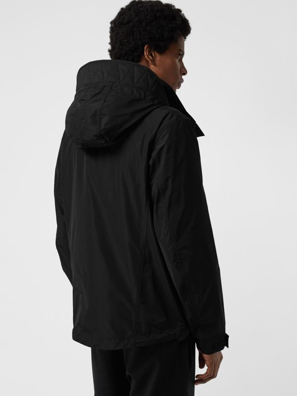 Packaway Hood Shape-memory Taffeta Jacket in Black - Men | Burberry Australia - cell image 2