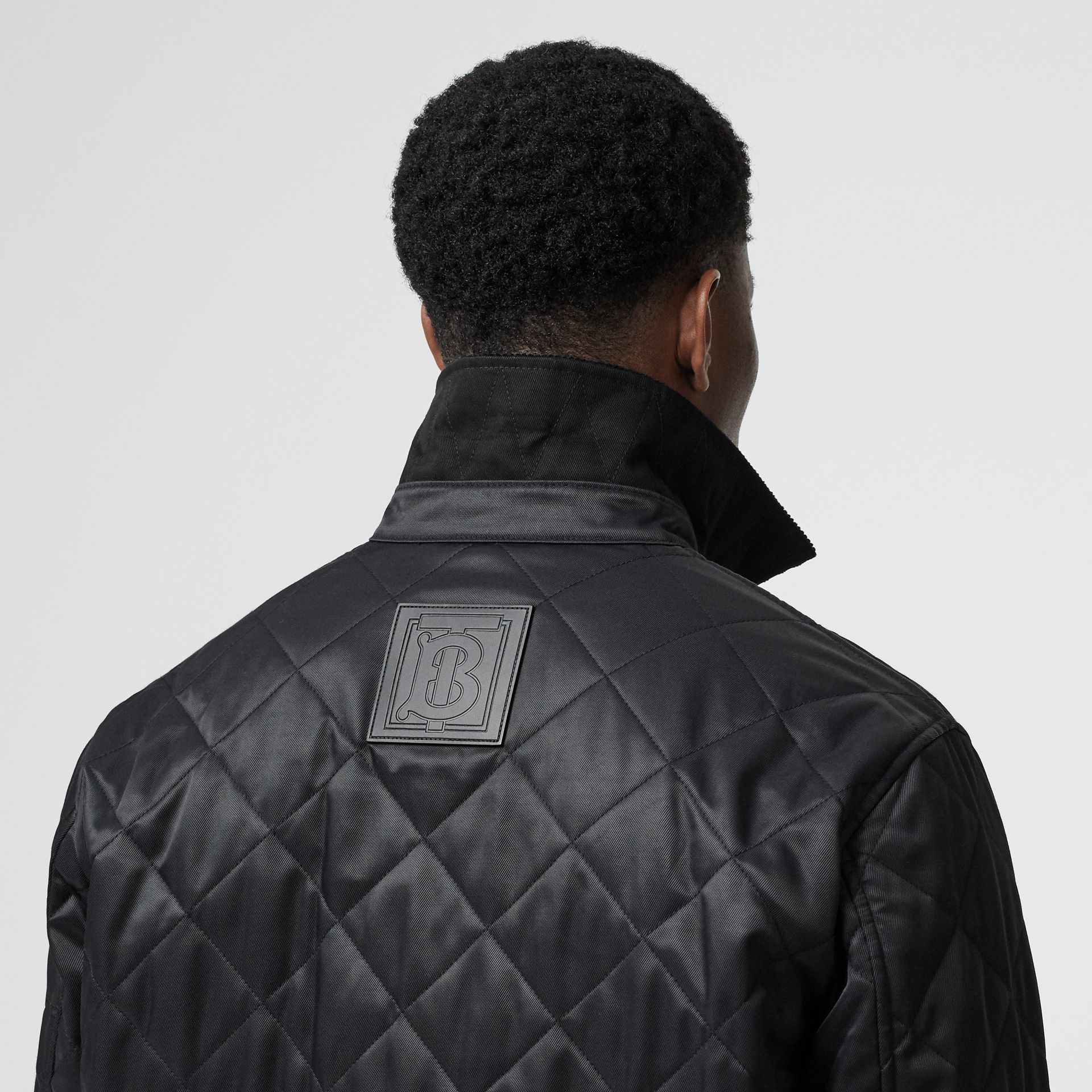 Diamond Quilted Thermoregulated Overshirt in Black - Men | Burberry United States - gallery image 4