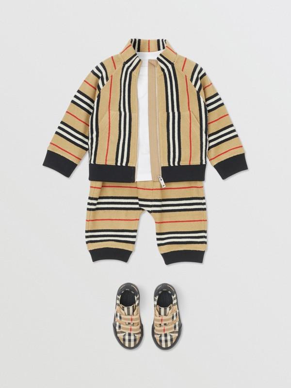 Icon Stripe Cotton Track Top in Archive Beige - Children   Burberry United Kingdom - cell image 3