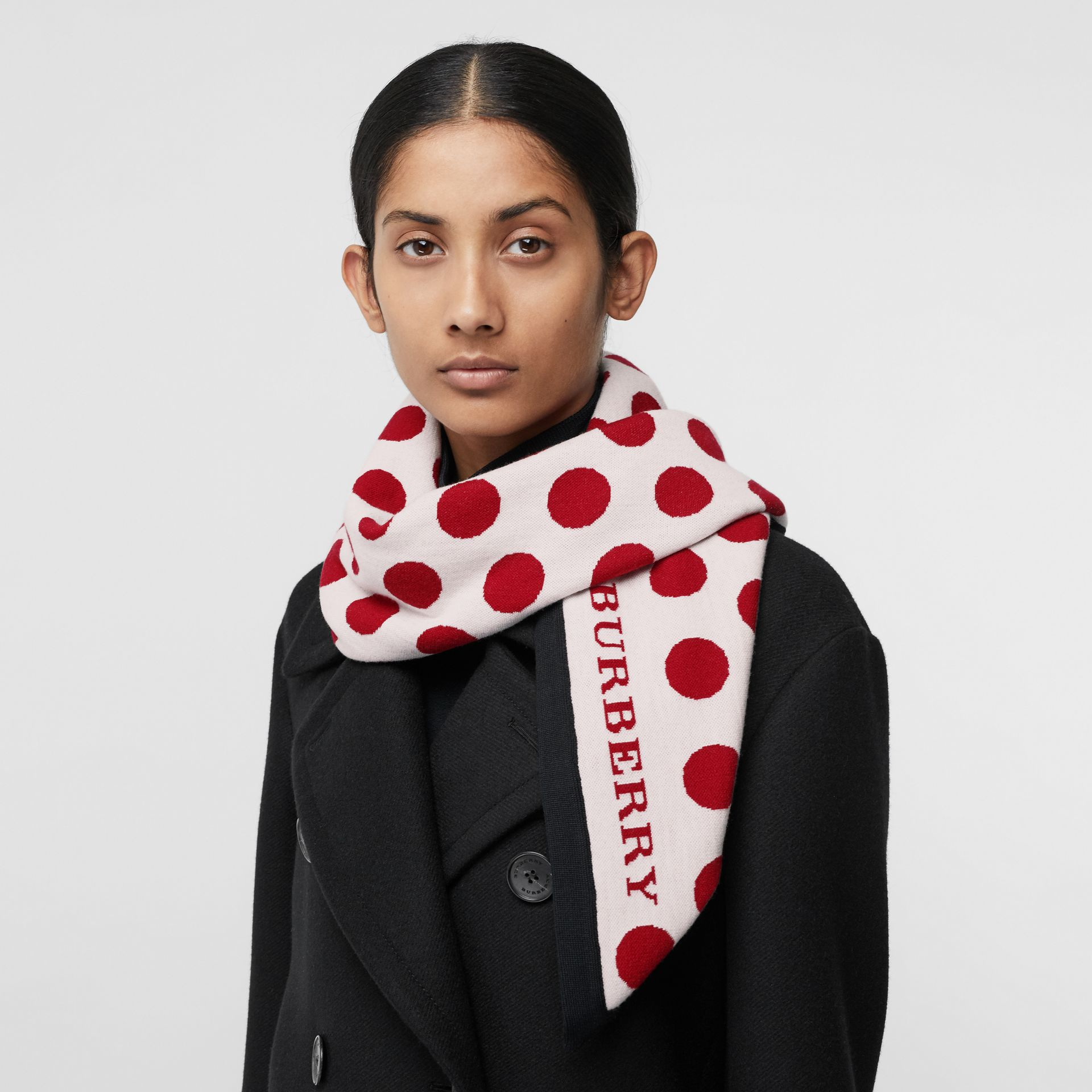 The Burberry Bandana in Spot Wool Blend in Multicolour | Burberry - gallery image 5