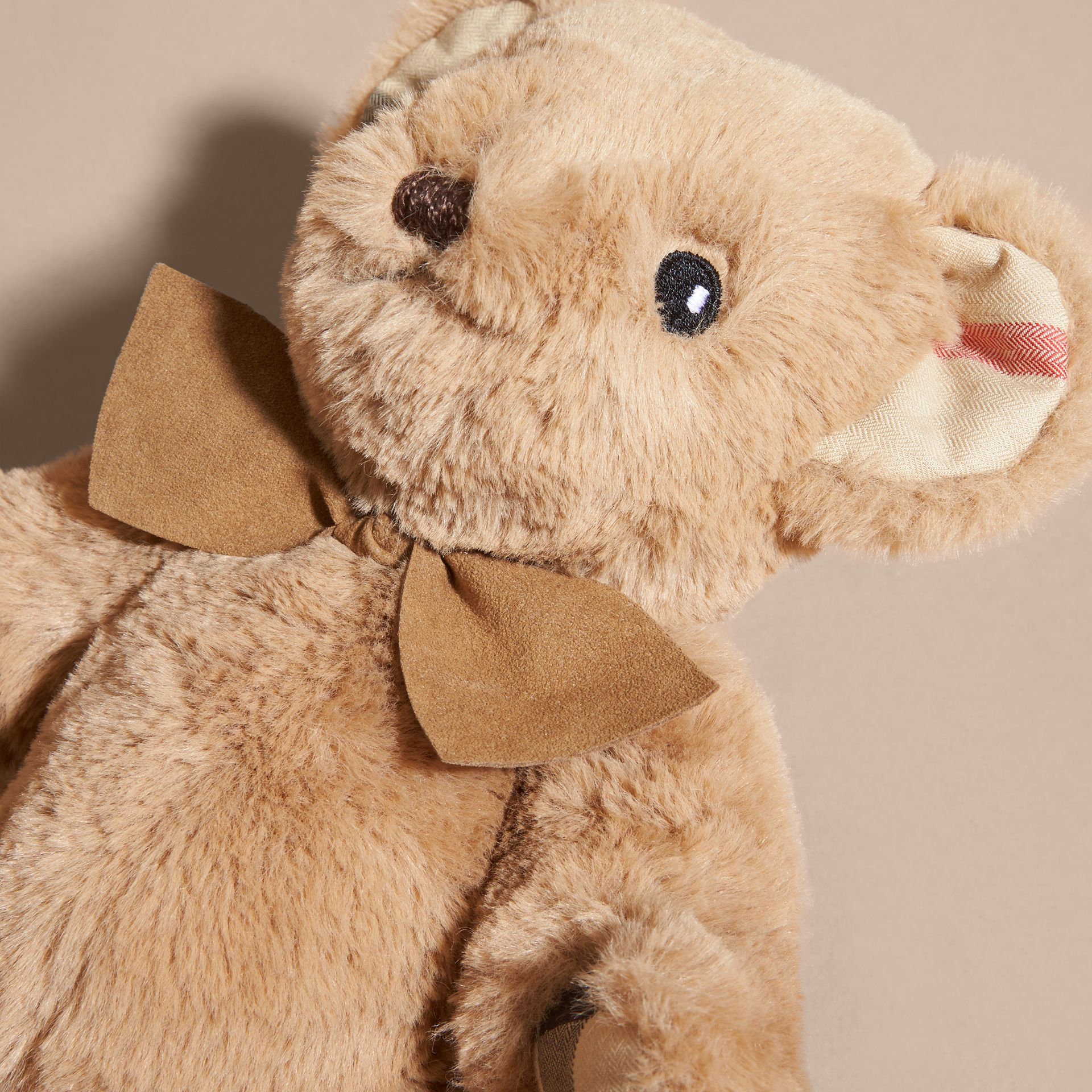 Thomas Baby Bear with Check Detail in Camel | Burberry - gallery image 2
