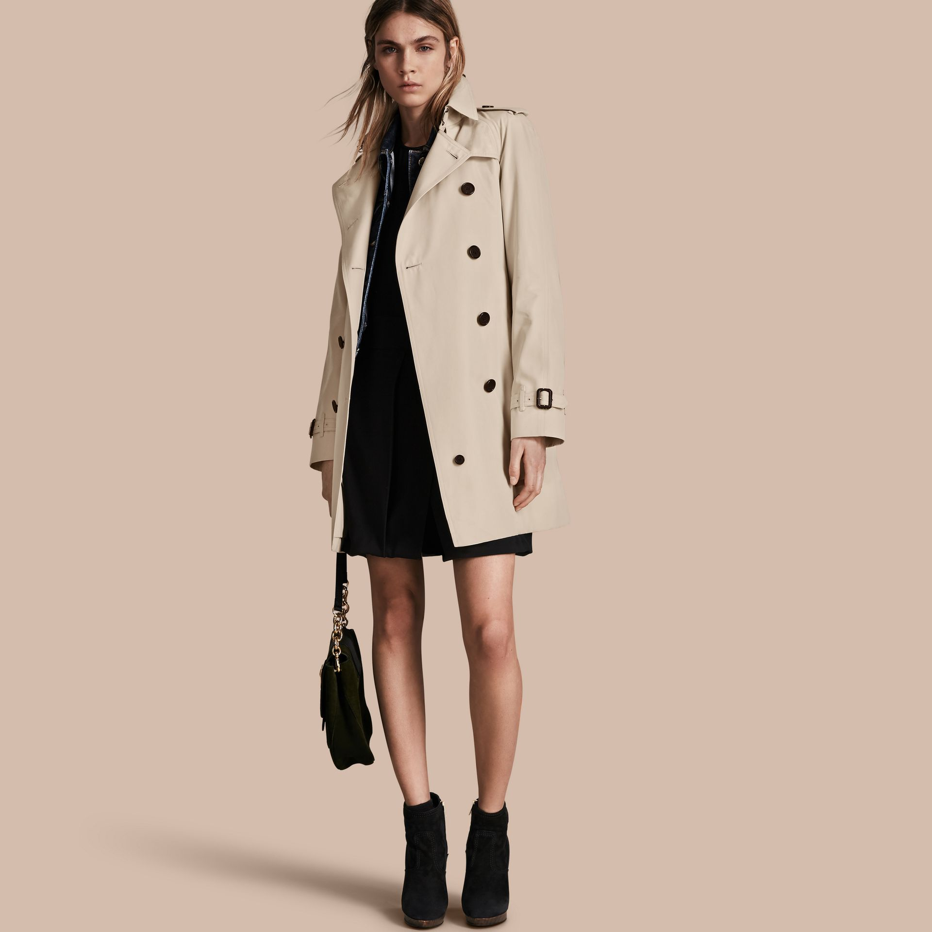 Stone The Westminster – Mid-Length Heritage Trench Coat Stone - gallery image 1