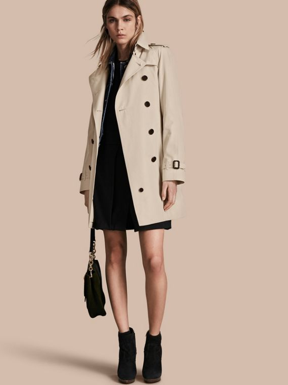 The Westminster – Mid-Length Heritage Trench Coat Stone
