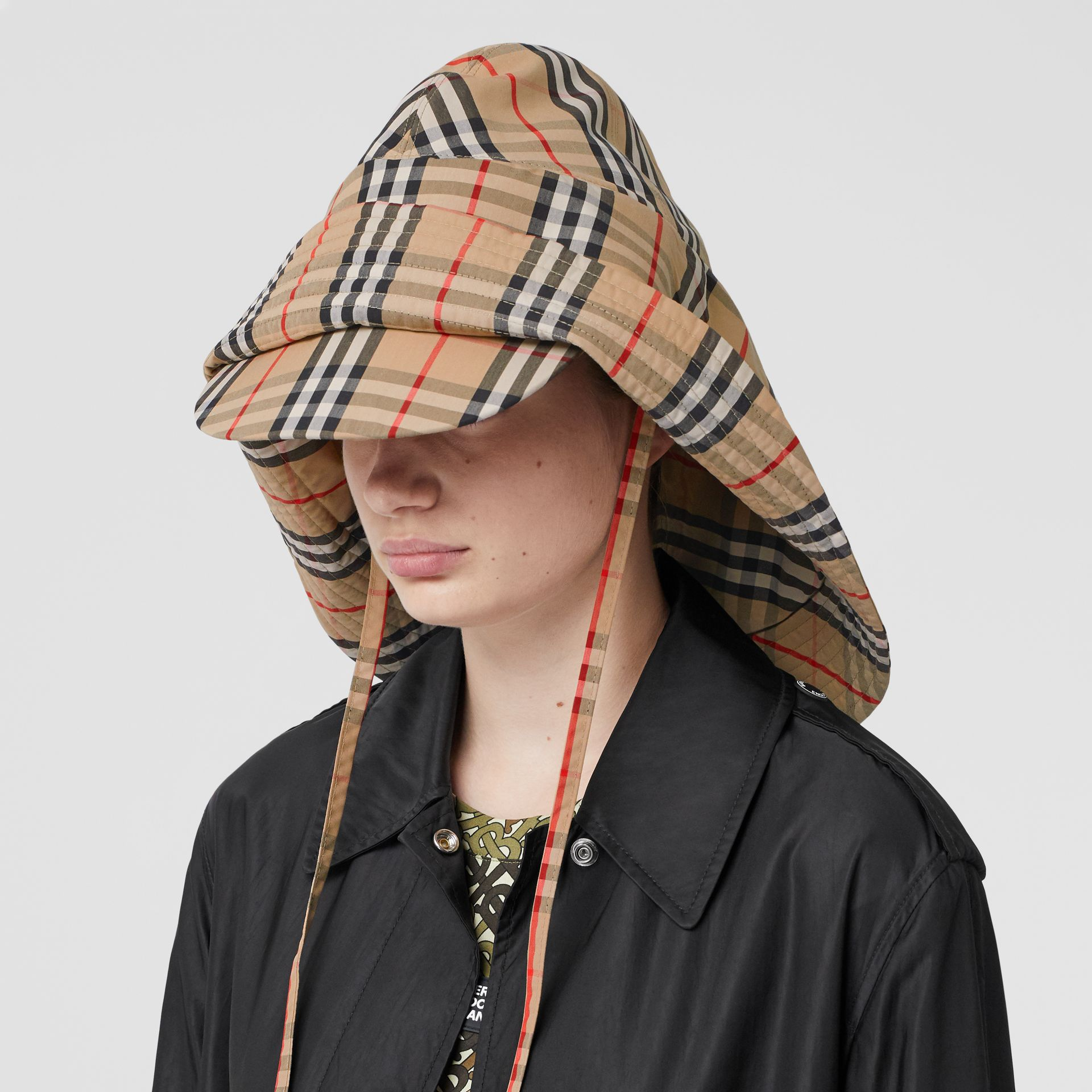 Vintage Check Rain Hat in Archive Beige - Men | Burberry - gallery image 2