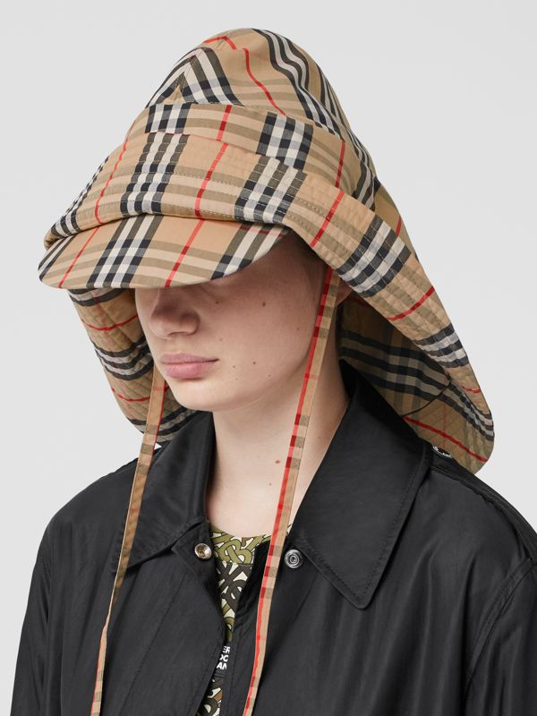 Vintage Check Rain Hat in Archive Beige - Men | Burberry - cell image 2
