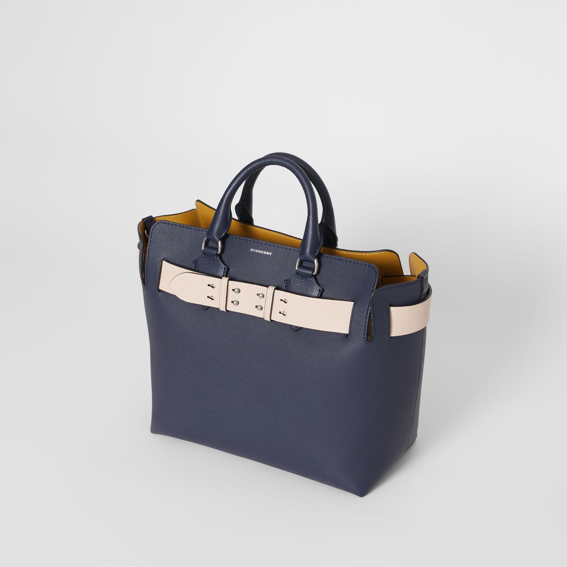 The Medium Leather Belt Bag in Regency Blue - Women | Burberry United Kingdom - gallery image 4