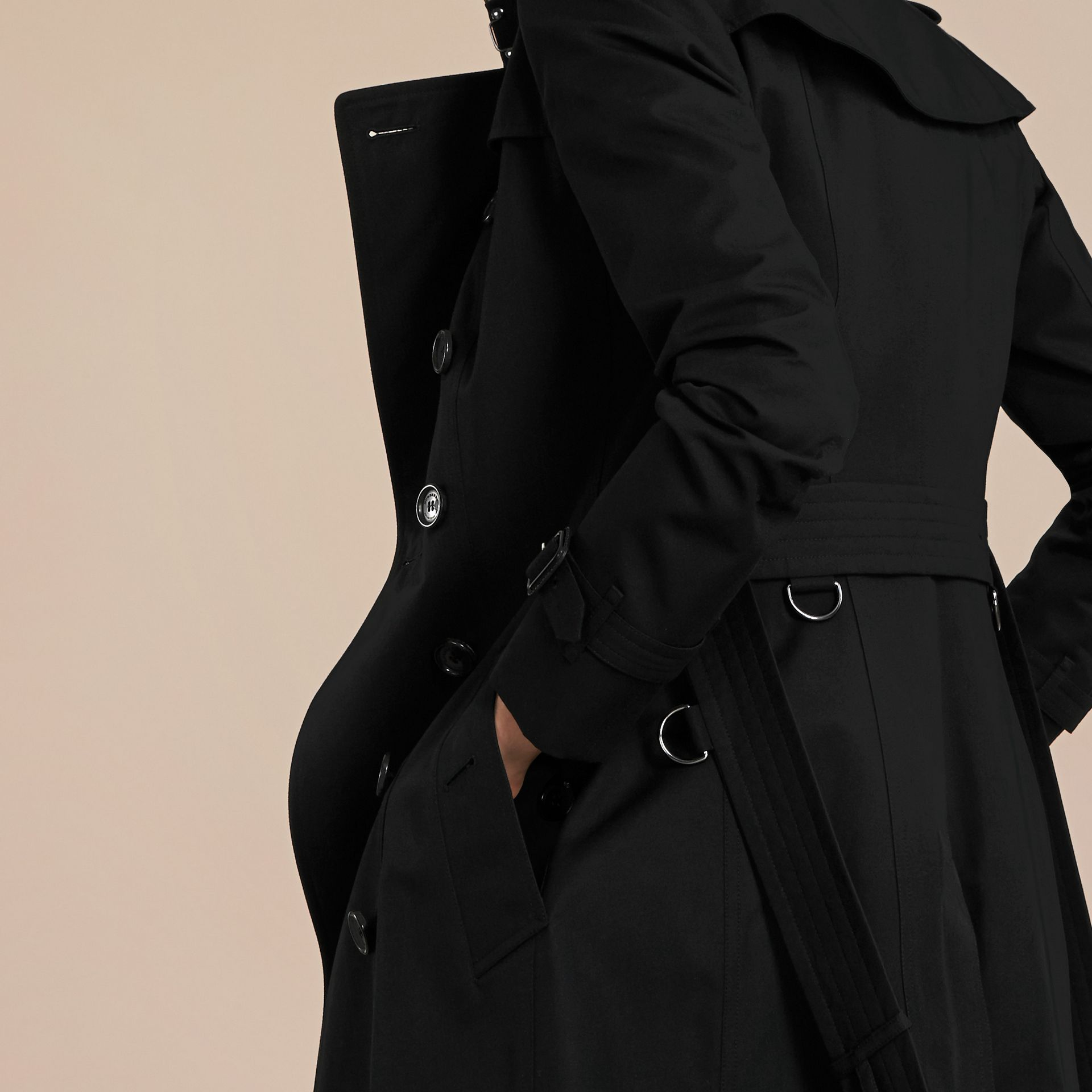 Black The Chelsea – Mid-length Heritage Trench Coat Black - gallery image 7