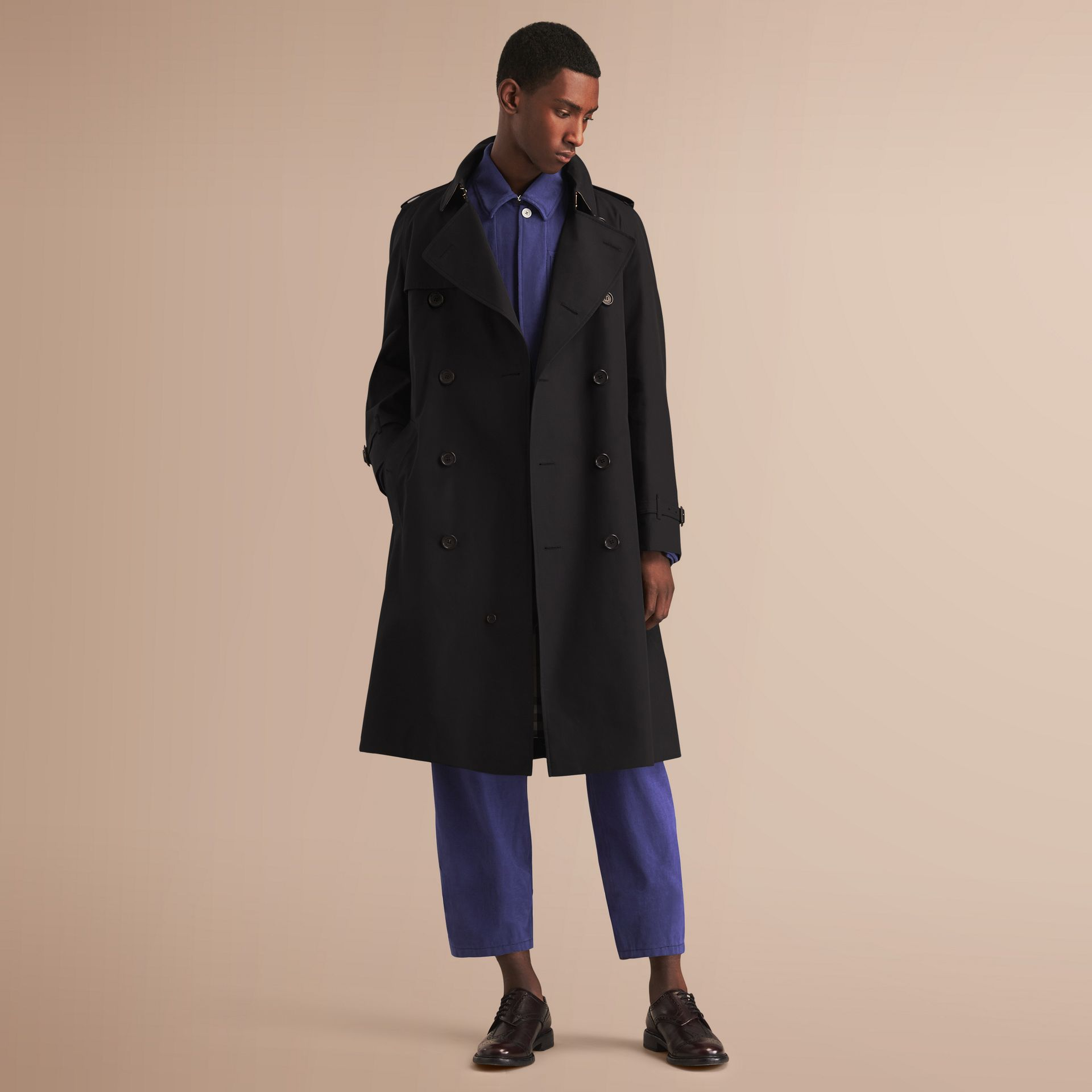 The Westminster – Long Heritage Trench Coat Black - gallery image 1