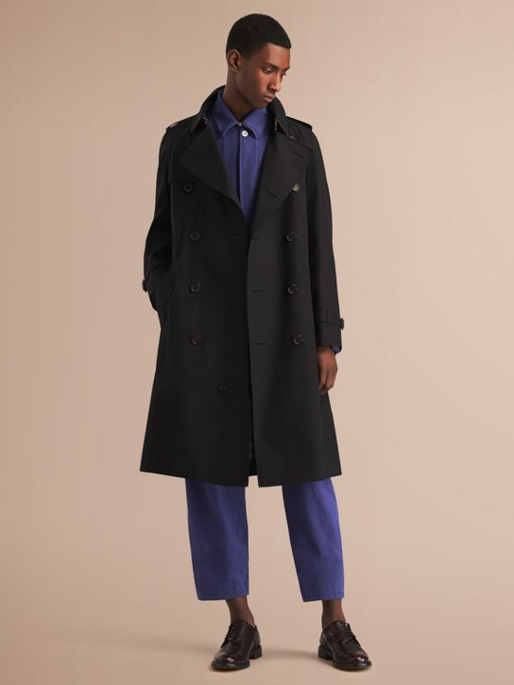 Westminster - Trench coat Heritage largo (Negro) - Hombre | Burberry