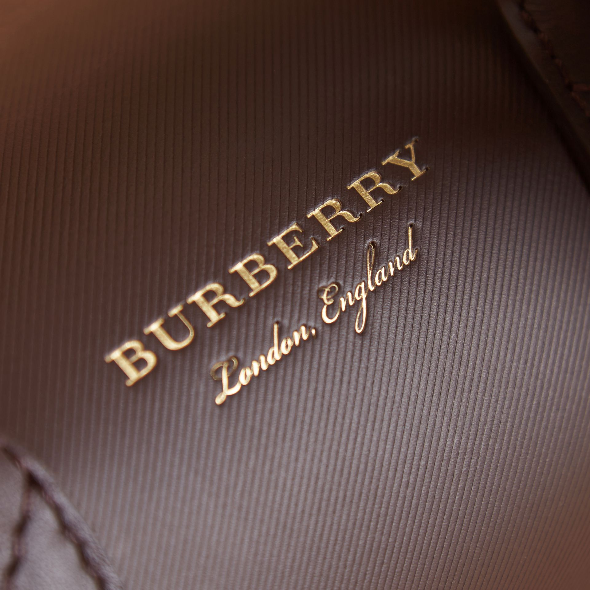 The Mini DK88 Barrel Bag in Dark Chocolate - Women | Burberry United Kingdom - gallery image 2