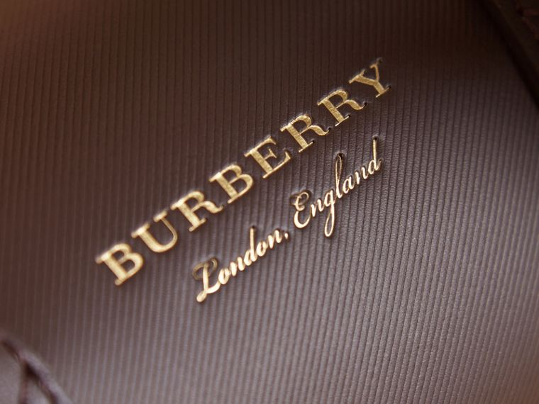 The Mini DK88 Barrel Bag in Dark Chocolate - Women | Burberry - cell image 1