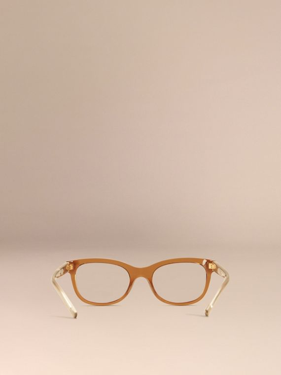 Taupe brown Check Detail Oval Optical Frames Taupe Brown - cell image 2