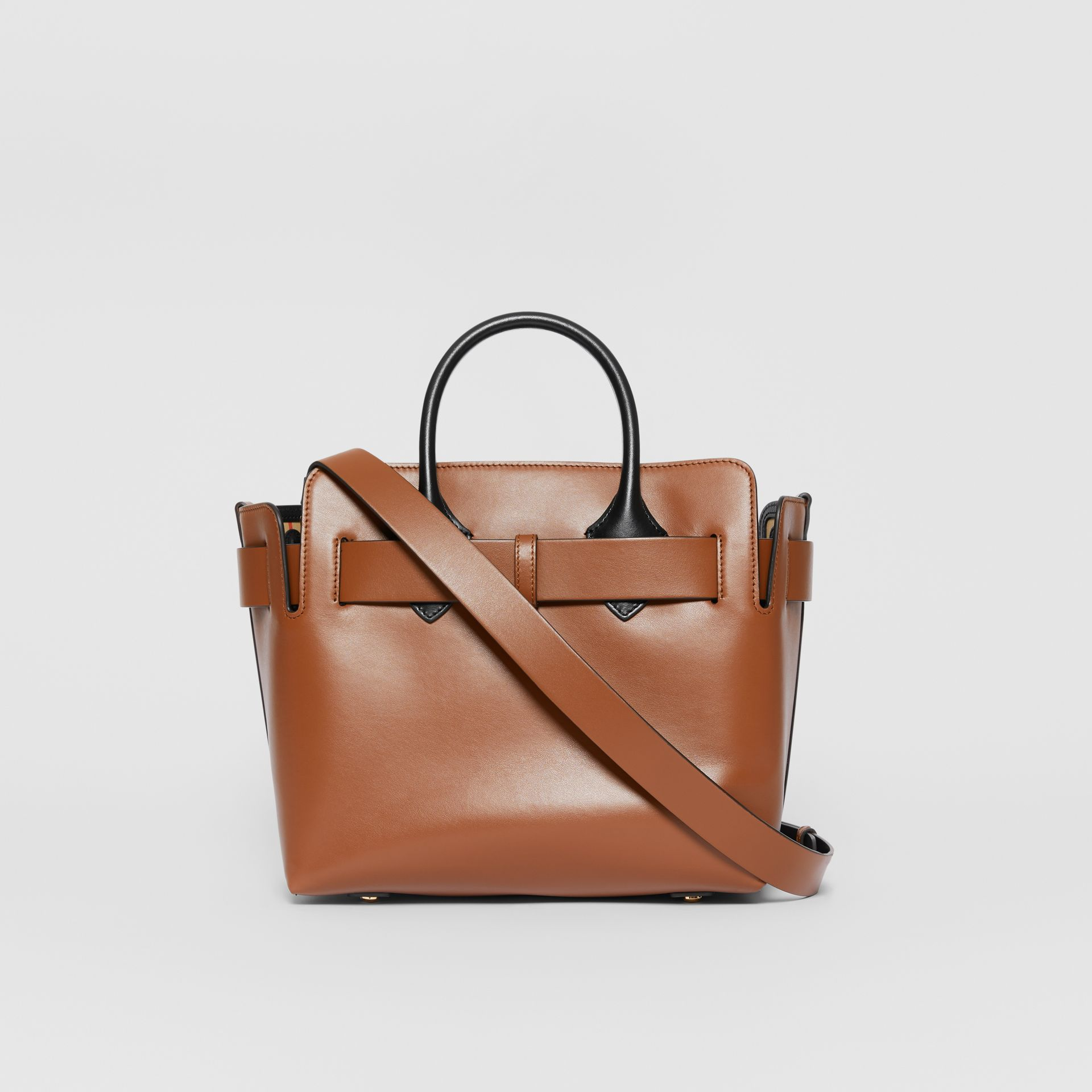 The Small Leather Triple Stud Belt Bag in Malt Brown - Women | Burberry United Kingdom - gallery image 7