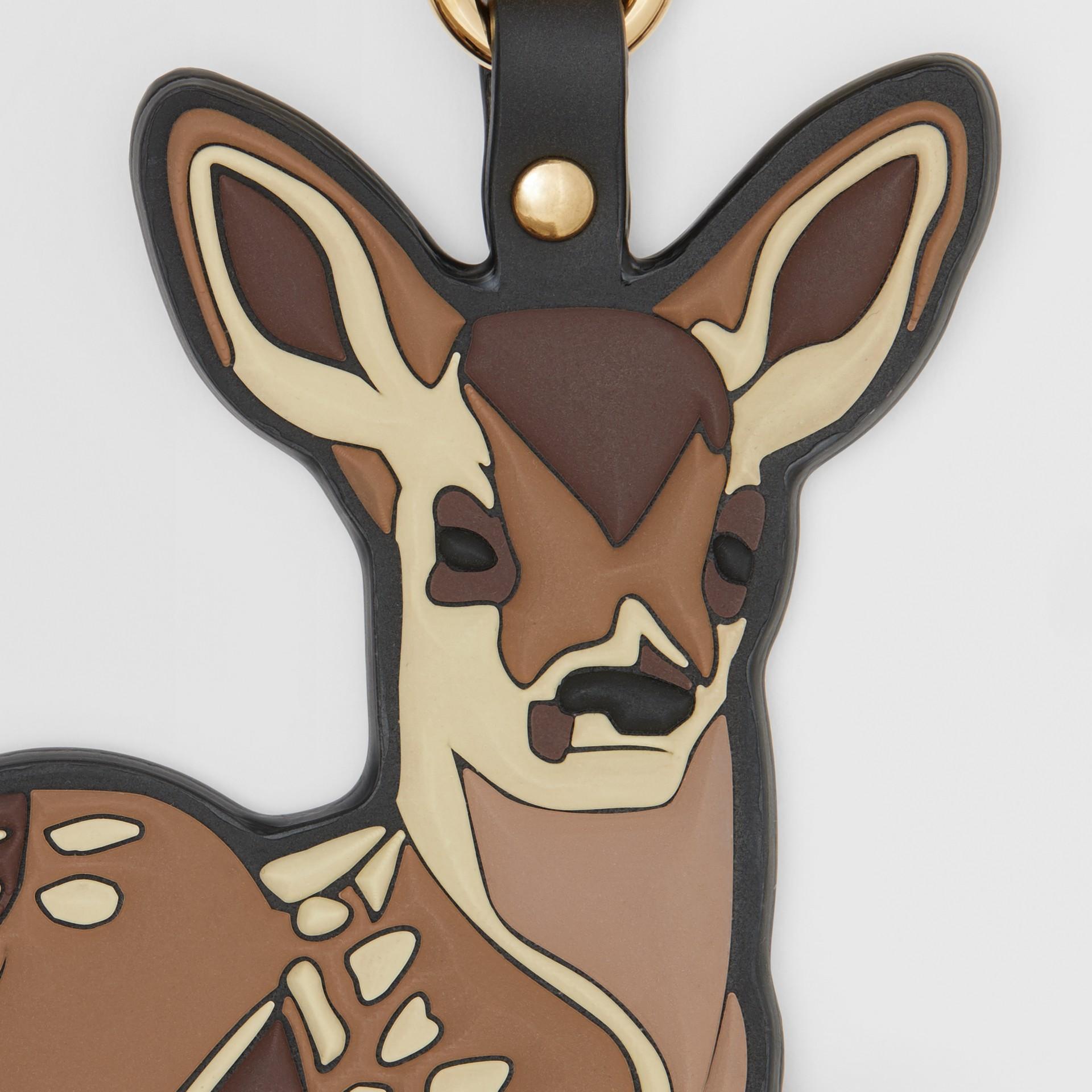 Deer Charm in Brown/multicoloured | Burberry - gallery image 1