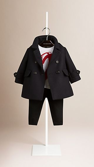 Double Wool Blend Coat
