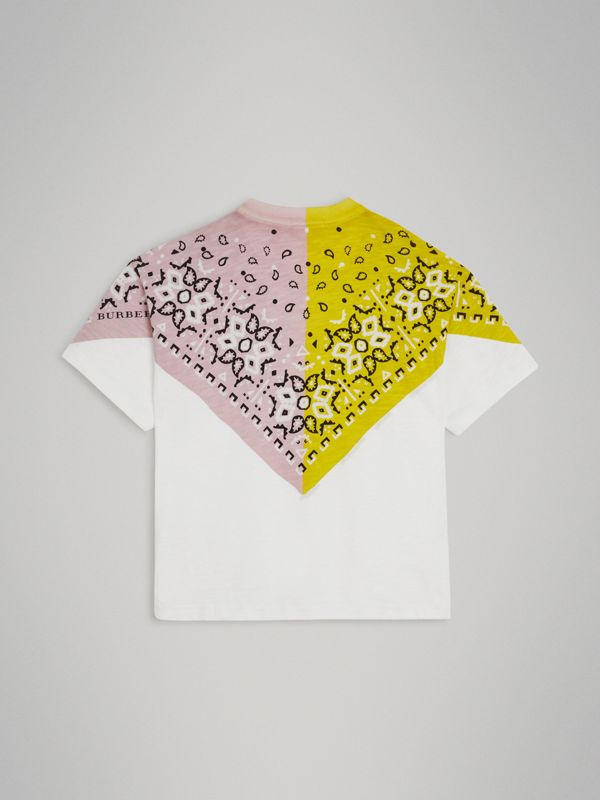 Bandana Print Cotton T-shirt in White | Burberry United Kingdom - cell image 3
