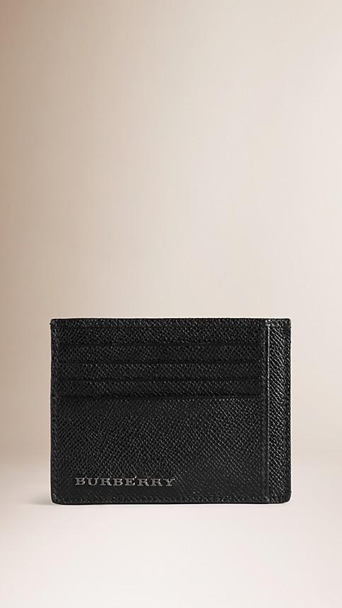 Black London Leather Card Case - Image 1