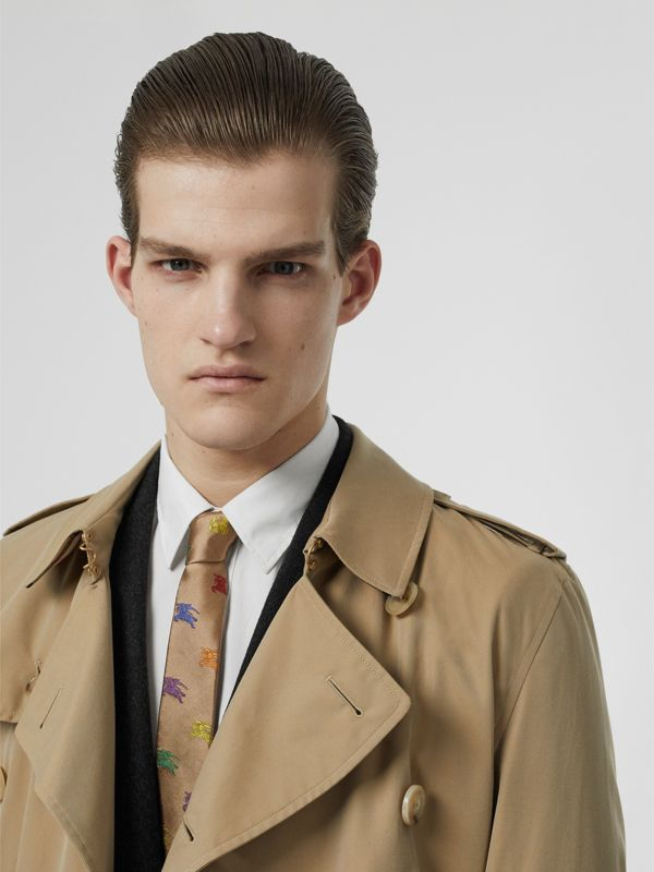 Slim Cut EKD Silk Tie in Camel - Men | Burberry United States - cell image 2