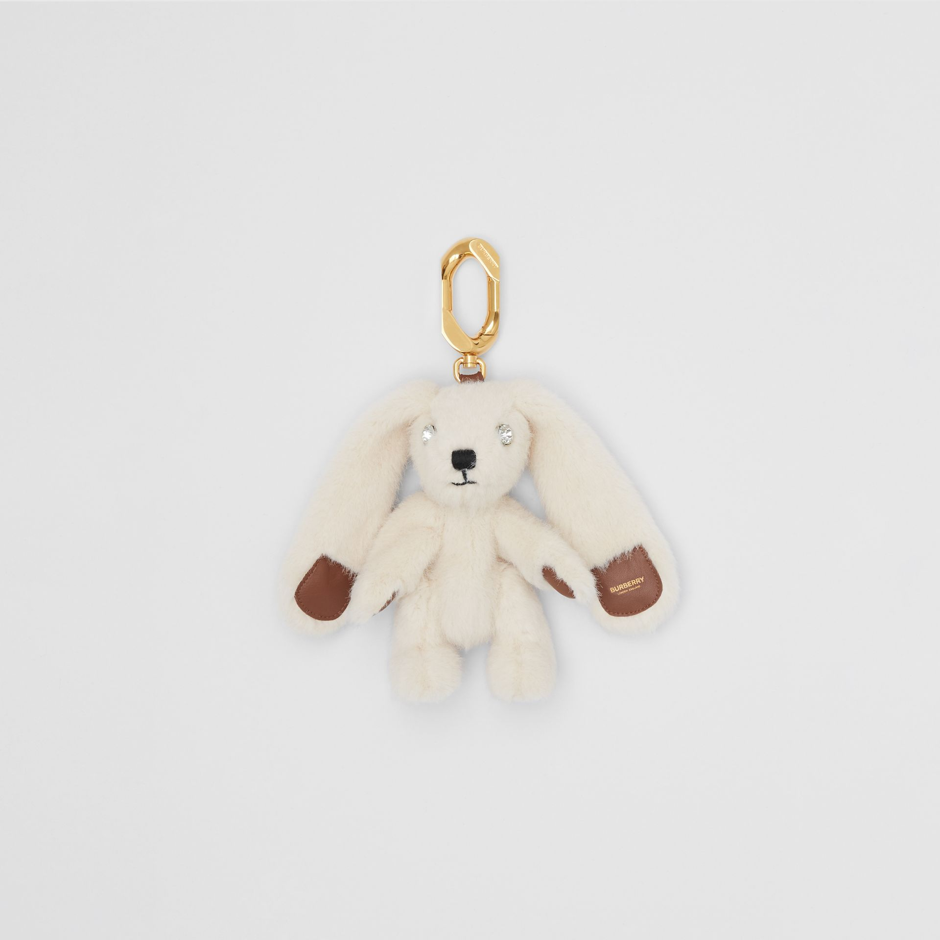 Embellished Faux Fur And Leather Rabbit Charm by Burberry