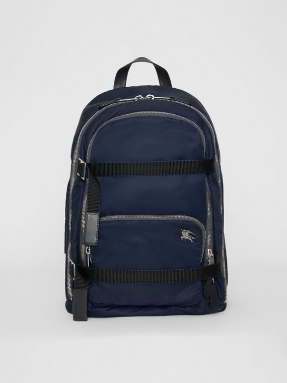 Large EKD Aviator Nylon Backpack in Ink Blue