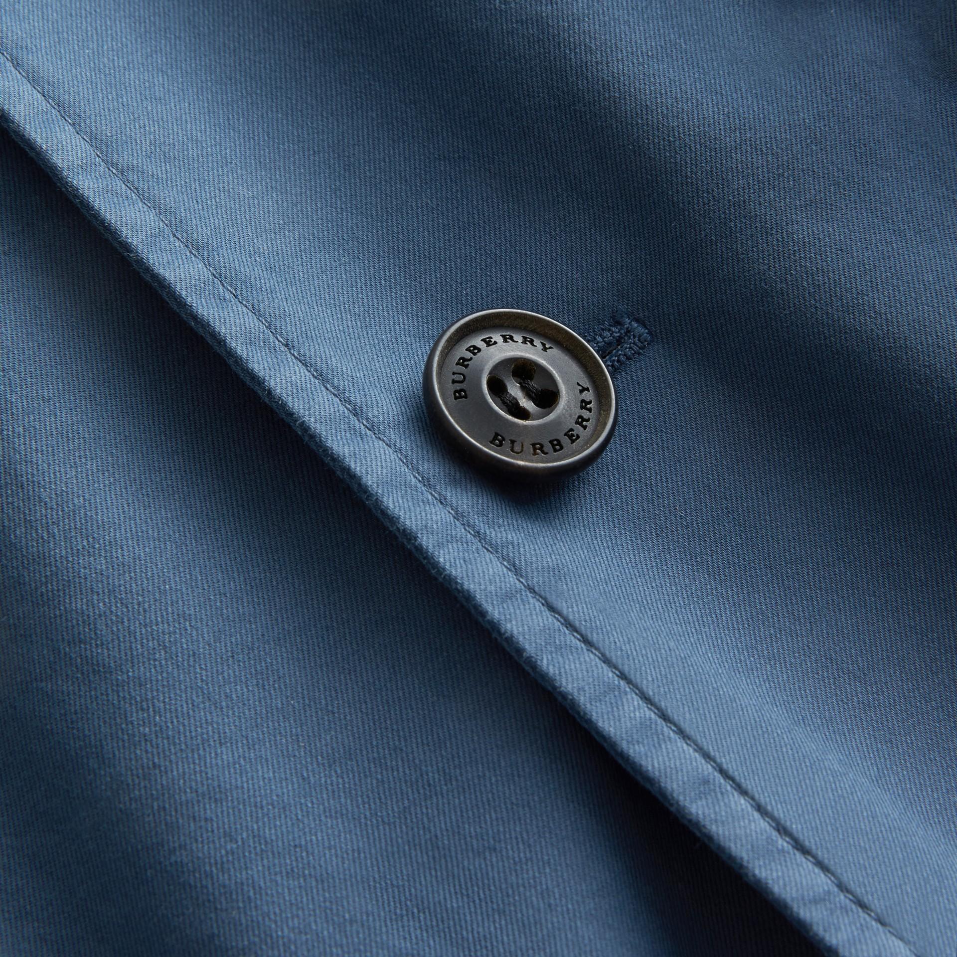 Slim Fit Stretch-cotton Blazer Navy - gallery image 2