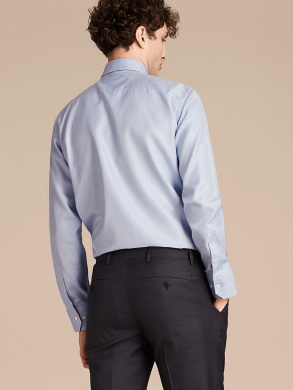 City blue Modern Fit Cotton Twill Shirt City Blue - cell image 2