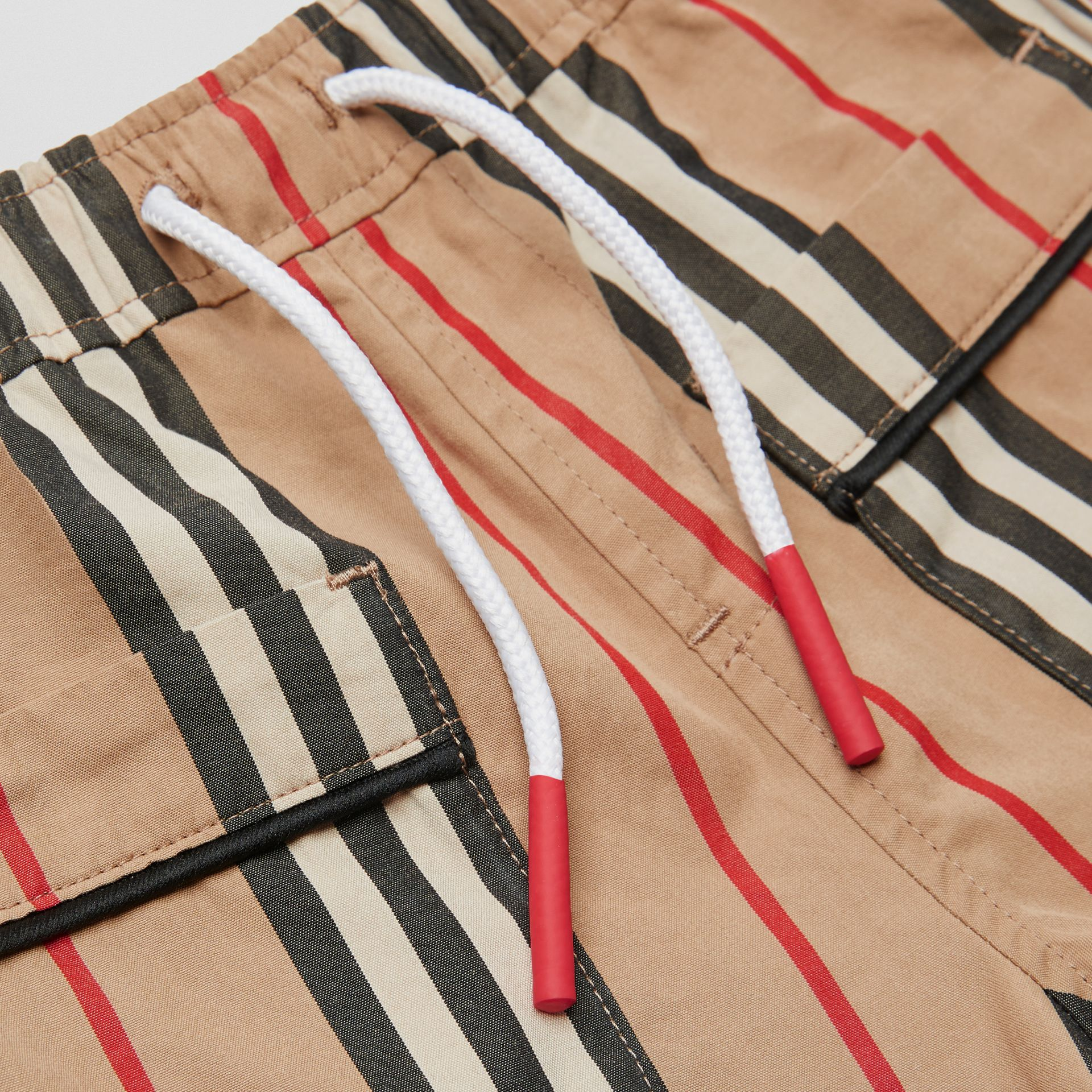 Icon Stripe Cotton Poplin Shorts in Archive Beige - Children | Burberry Singapore - gallery image 1