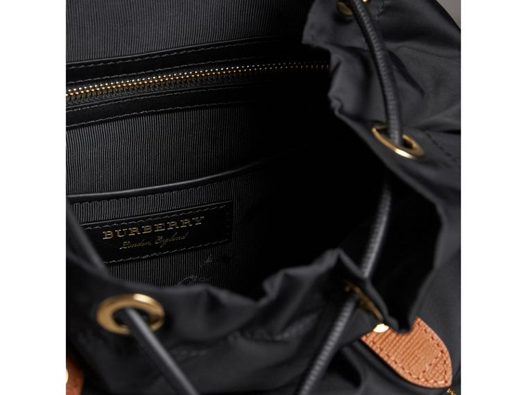 The Medium Rucksack in Technical Nylon and Leather in Black - Women | Burberry Australia - cell image 4