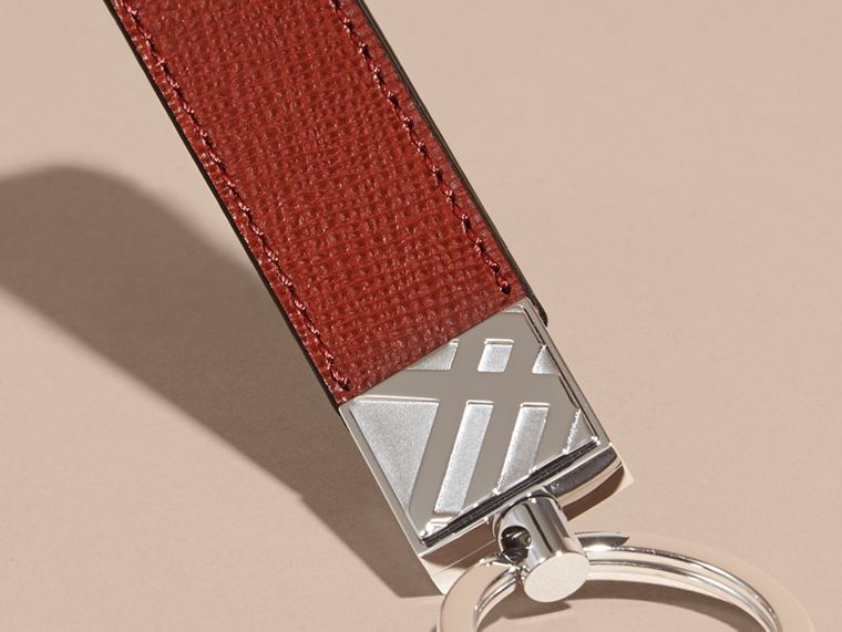 Dark military red London Leather Key Ring Dark Military Red - cell image 1