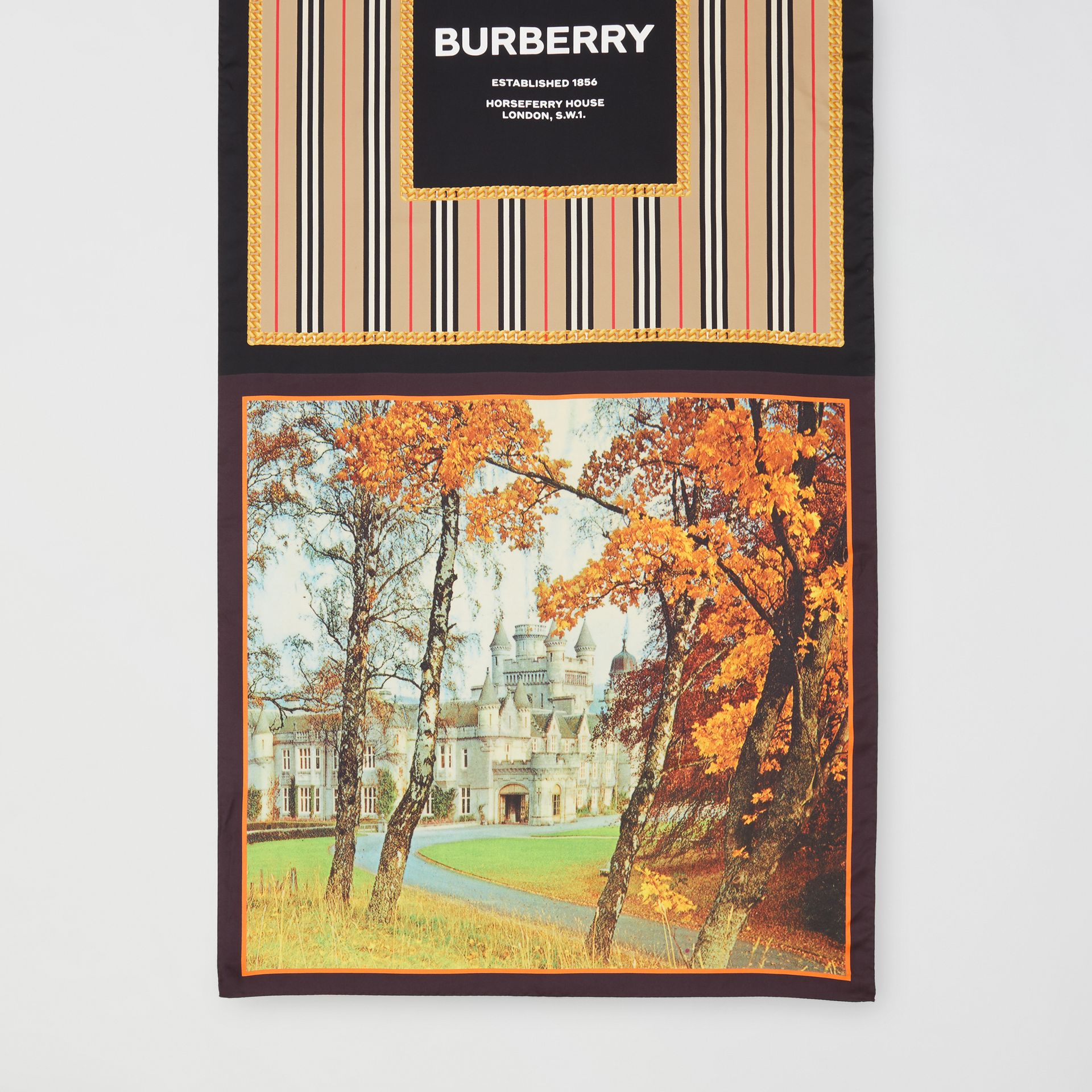 Montage Print Silk Scarf in Archive Beige | Burberry - gallery image 3
