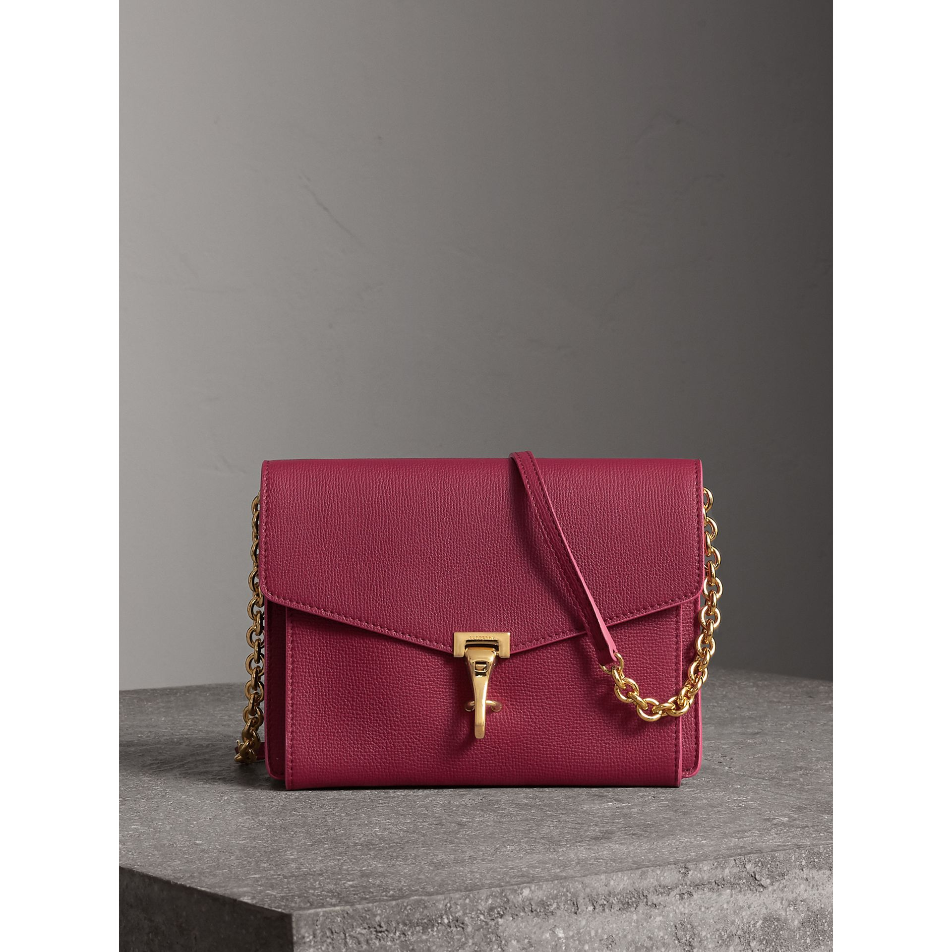 Small Grainy Leather Crossbody Bag in Berry Pink - Women | Burberry Australia - gallery image 0