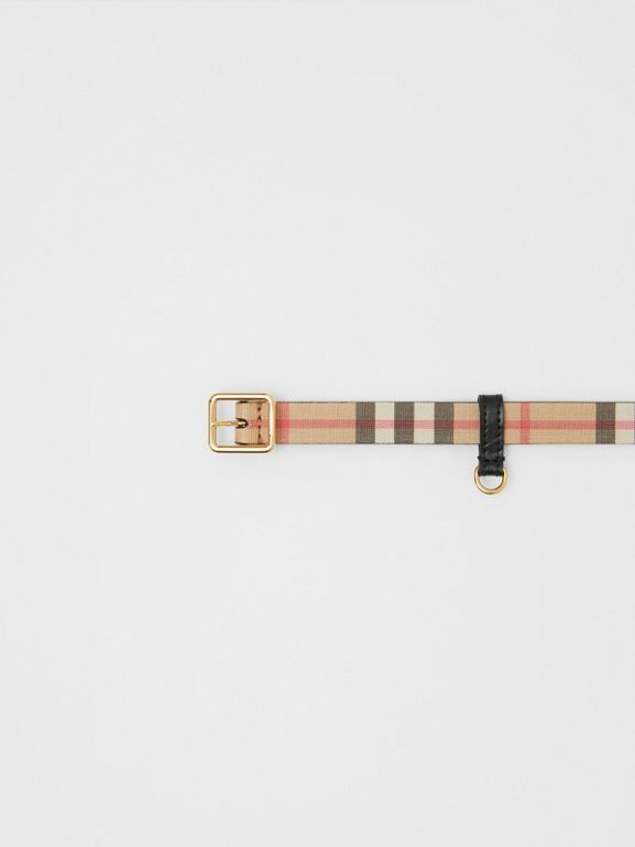 D-ring Detail Vintage Check E-canvas Belt in Black - Children | Burberry - cell image 1