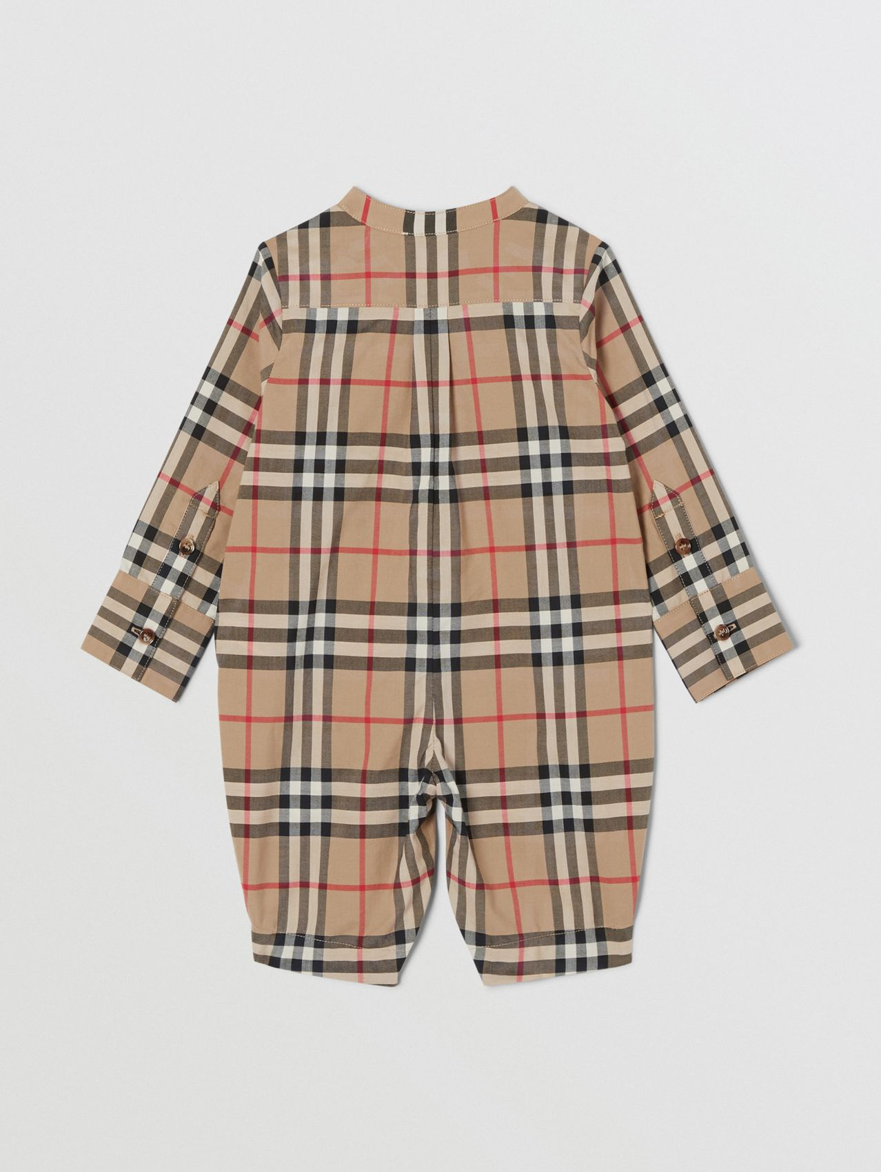 Vintage Check Cotton Jumpsuit (Archive Beige)
