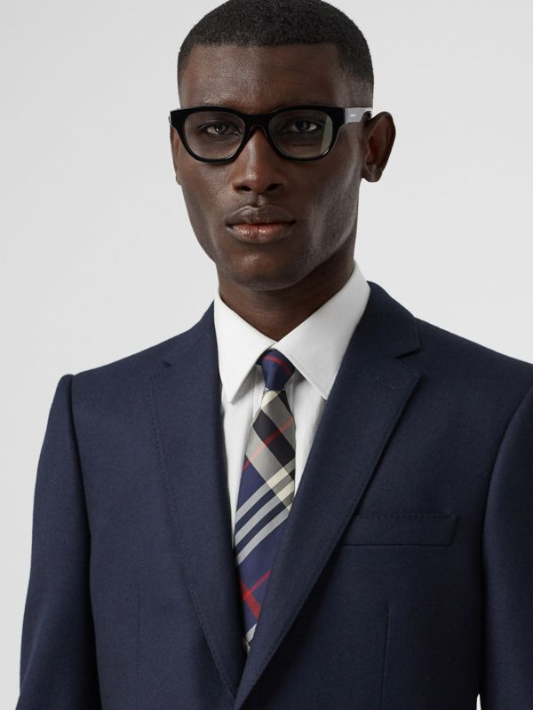 Classic Cut Check Silk Tie in Navy - Men | Burberry Hong Kong S.A.R - cell image 2