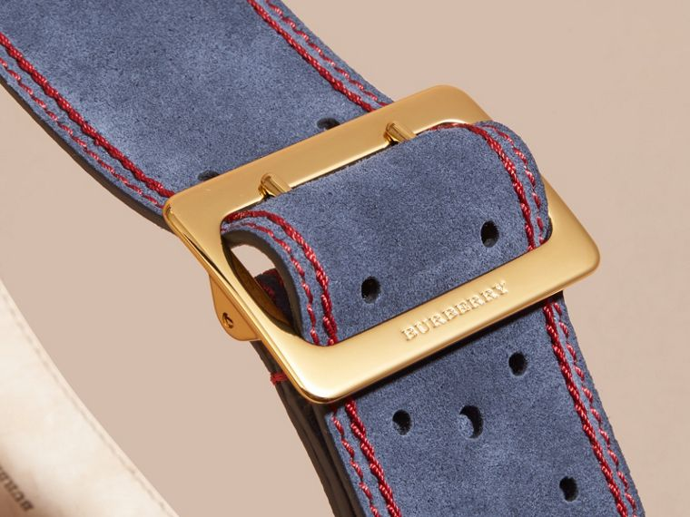 Navy English Suede Belt - cell image 1