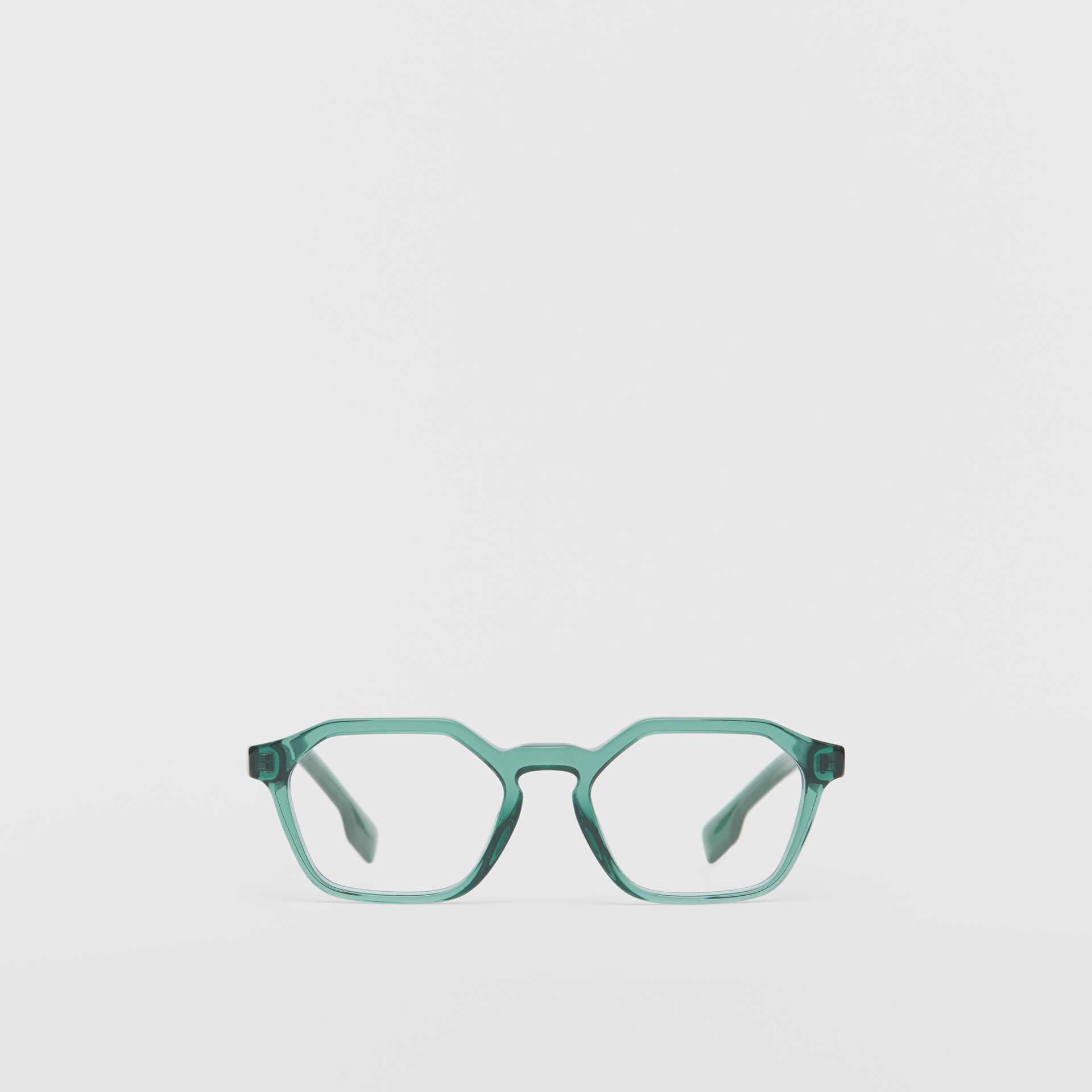 Geometric Optical Frames in Green - Women | Burberry United Kingdom - gallery image 0