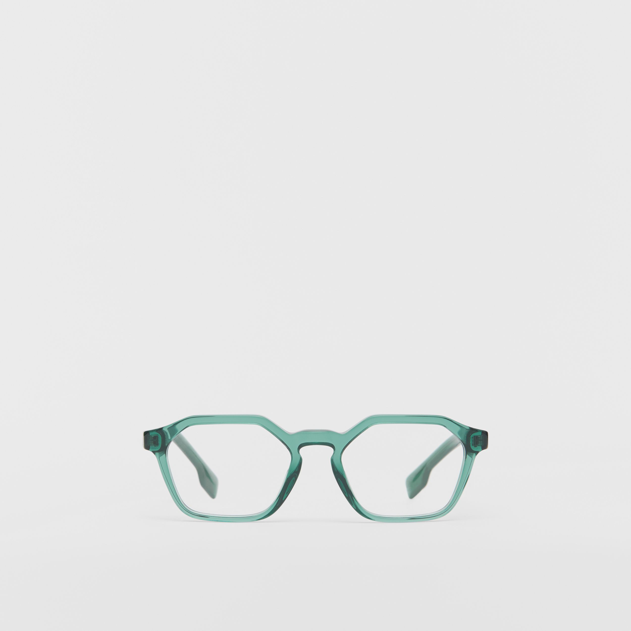 Geometric Optical Frames in Green - Women | Burberry United Kingdom - 1