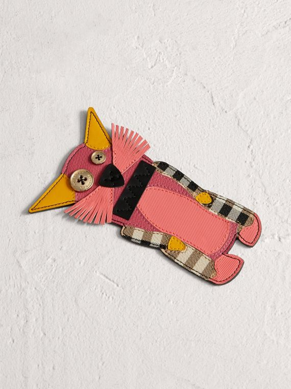 Rufus The Cat Leather Bookmark in Black
