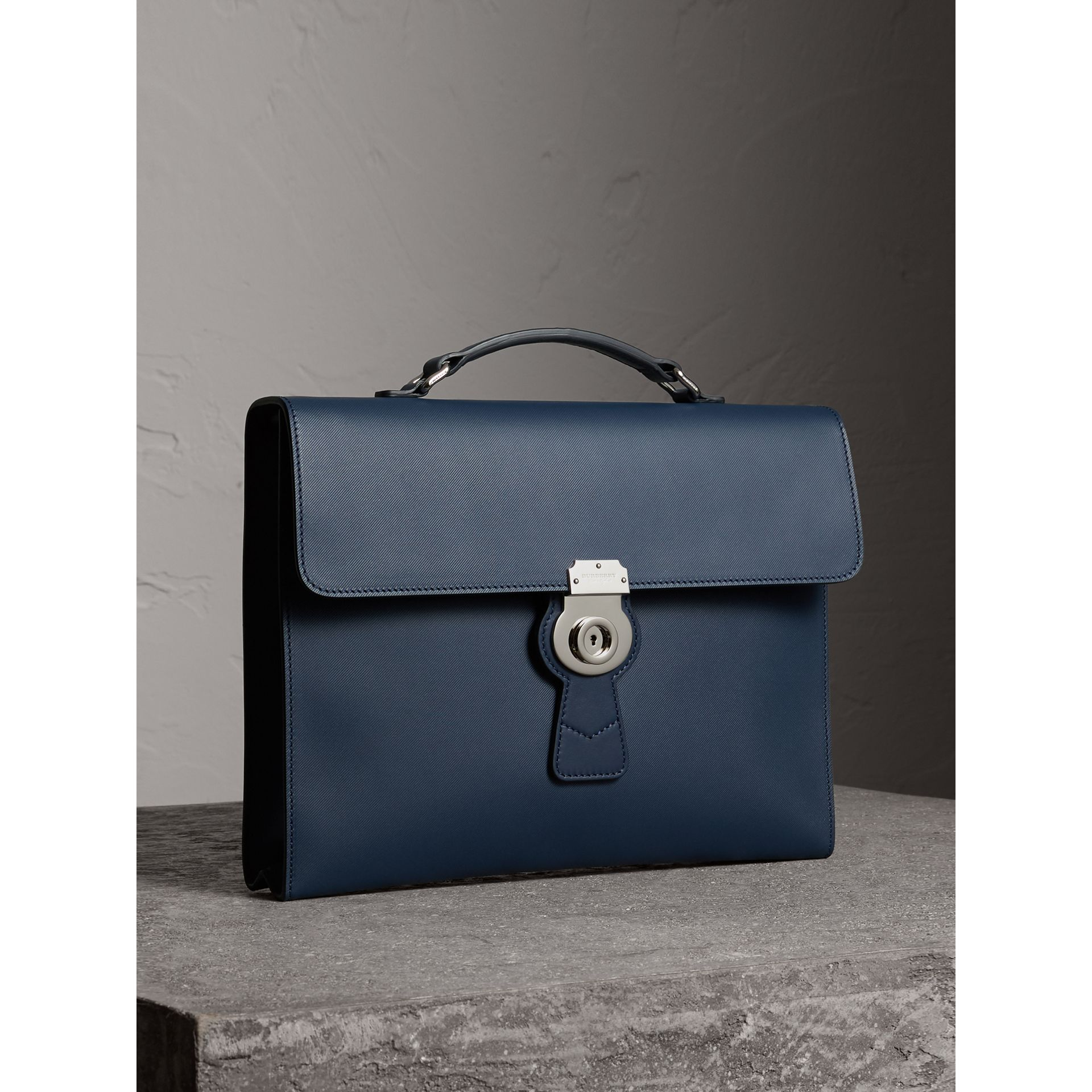 The Large DK88 Document Case in Ink Blue - Men | Burberry - gallery image 7