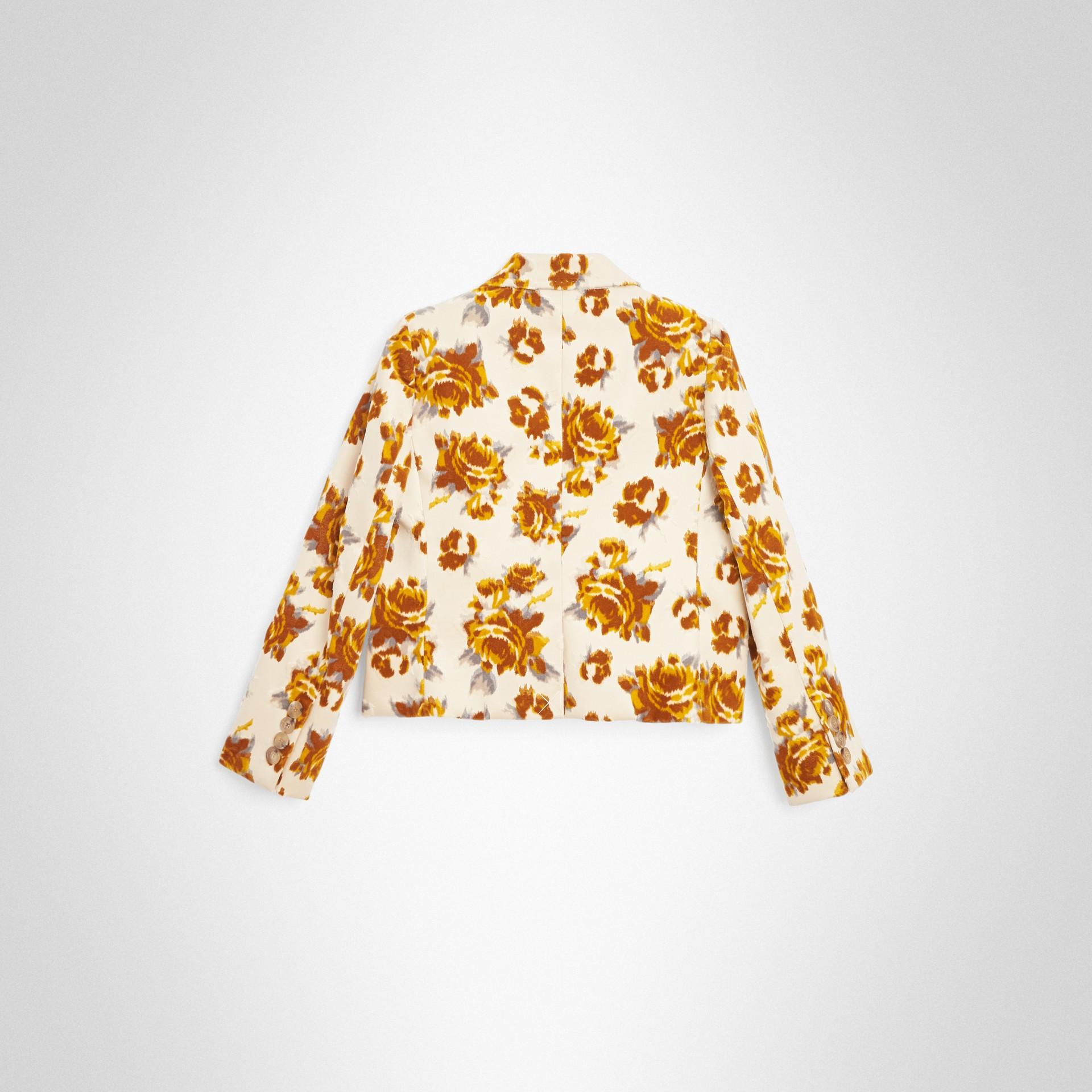 Blazer en jacquard de velours à motif floral (Moutarde) | Burberry - photo de la galerie 3