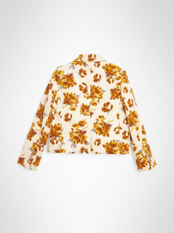 Blazer en jacquard de velours à motif floral (Moutarde) | Burberry - cell image 3