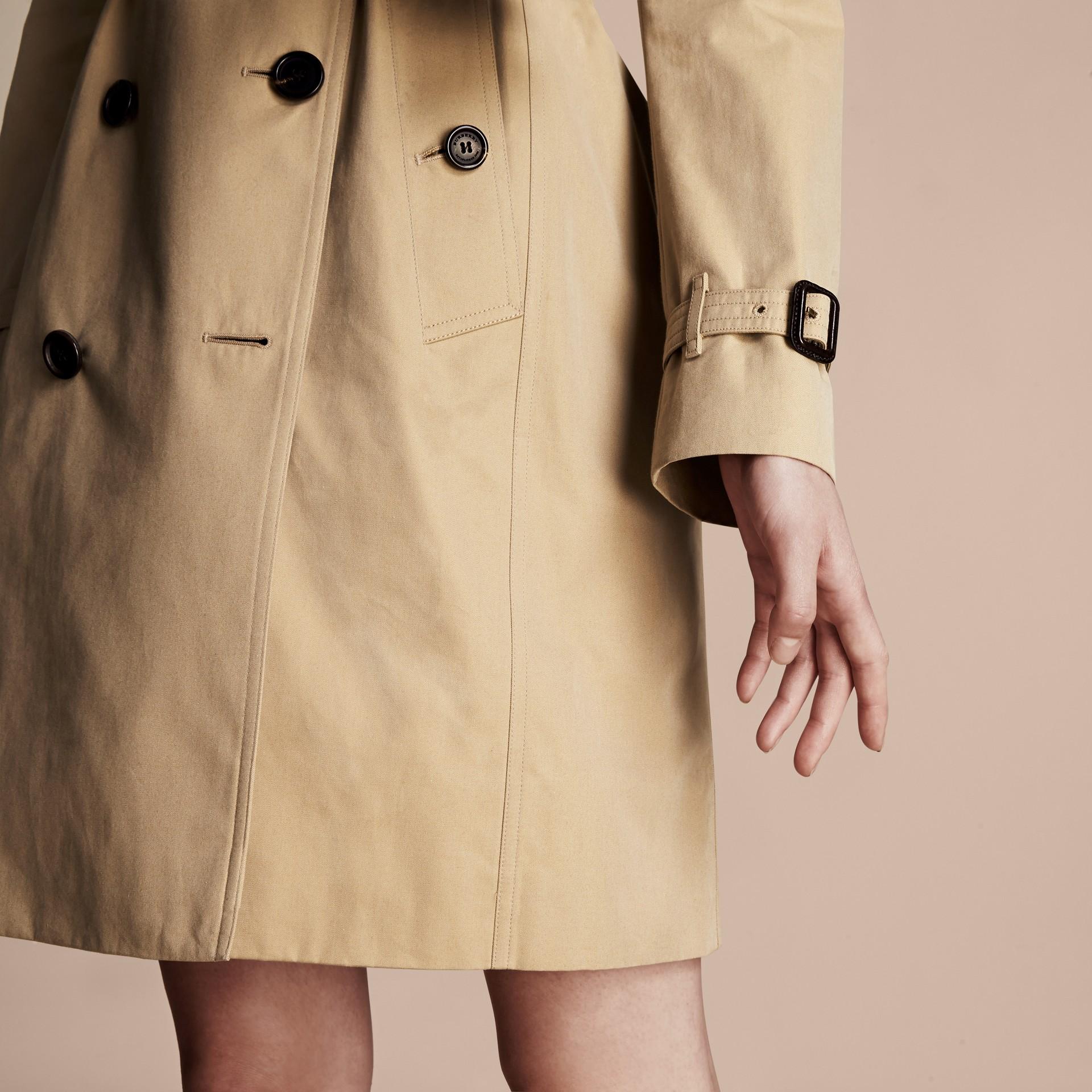 Miel The Kensington – Trench-coat Heritage ultra-long Miel - photo de la galerie 7